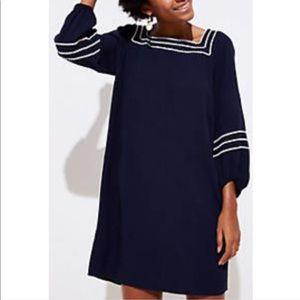 LOFT Zigzag Blouson Swing Dress